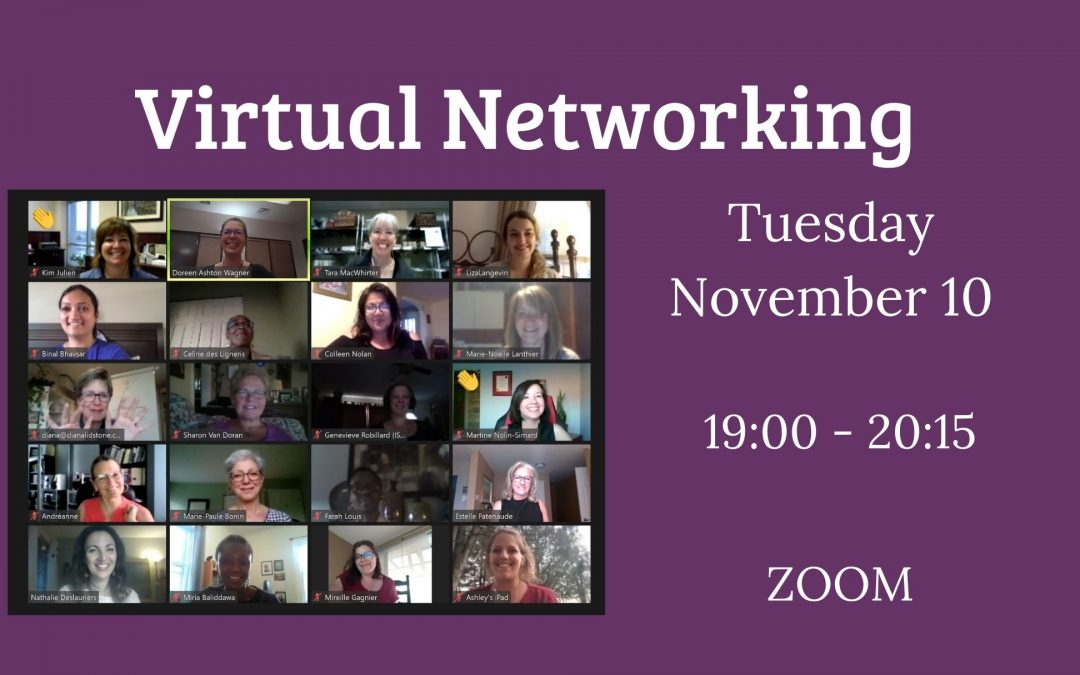 Announcement of November 2020 Virtual Networking Event